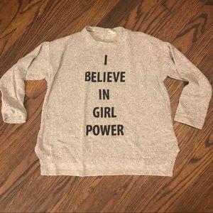 Zara girls Gray sweater size 8